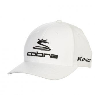 Pro Tour Stretch Fit Golf Cap - White