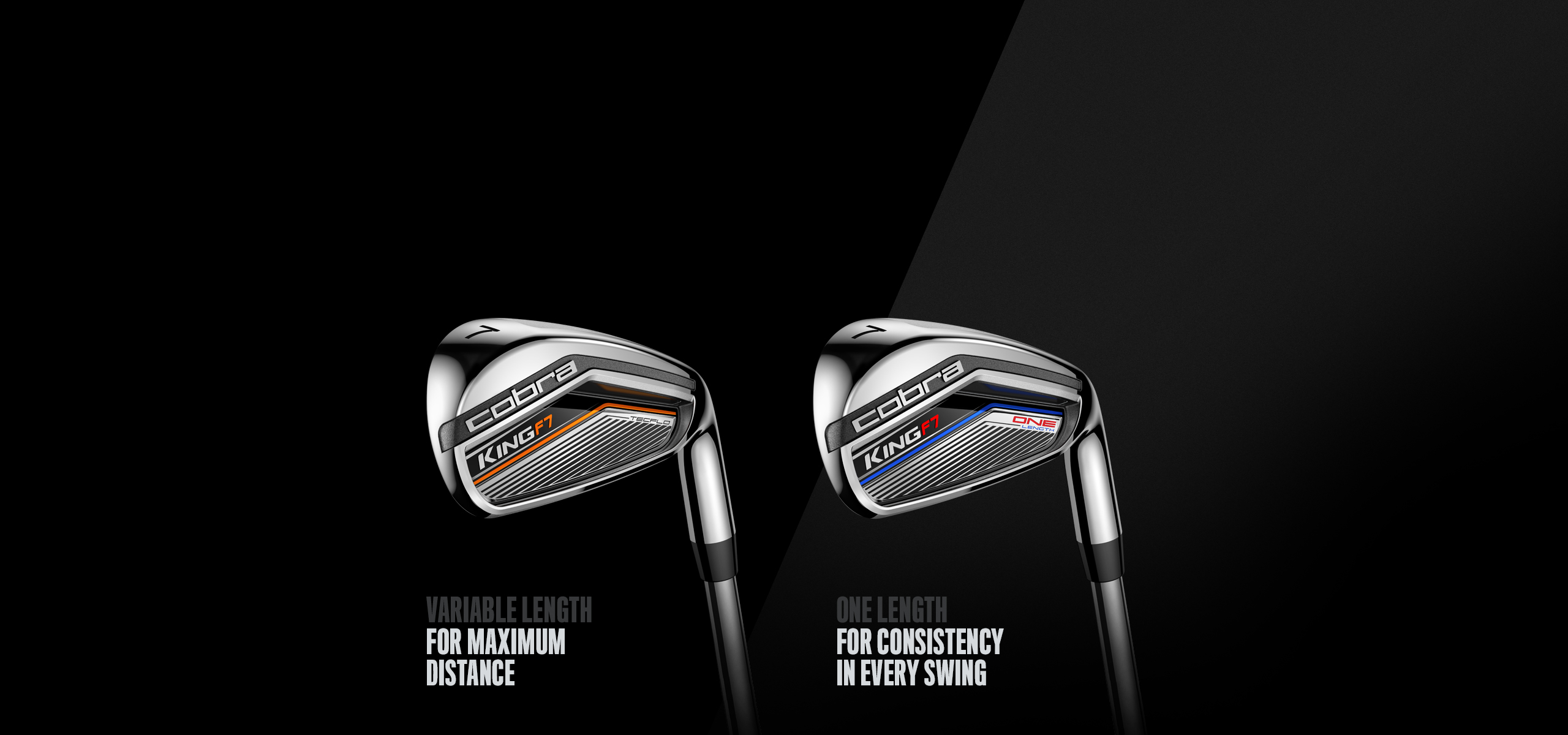Cobra KING F7 Golf Club Irons Variable and One Length 2017